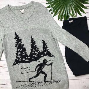 {J. Crew} sz L intarsia skier sweater